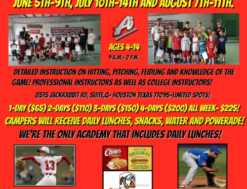 2017 Baseball Summer Camps & Dates
