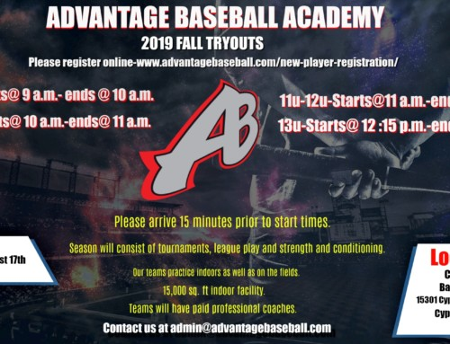 Advantage Baseball 2019 Fall Tryouts